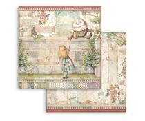 Stamperia Alice Humpty Dumpty 12x12 Inch Paper Sheets (10pcs) (SBB820)