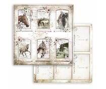 Stamperia Romantic Horses Cards 12x12 Inch Paper Sheets (10pcs) (SBB802)