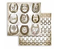 Stamperia Romantic Horses Horseshoe 12x12 Inch Paper Sheets (10pcs) (SBB801)