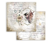 Stamperia Romantic Horses Lady with Horse 12x12 Inch Paper Sheets (10pcs) (SBB800)
