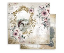 Stamperia Romantic Horses Lake 12x12 Inch Paper Sheets (10pcs) (SBB799)
