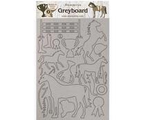 Stamperia Greyboard A4 Romantic Horses Trophy (KLSPDA434)