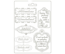 Stamperia Soft Mould A5 Alice in Wonderland Plates (K3PTA590)