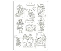 Stamperia Soft Mould A4 Alice King (K3PTA4506)