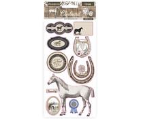 Stamperia Chipboard 15x30cm Romantic Horses (DFLCB31)