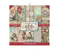Stamperia Alice in Wonderland 6x6 Inch Paper Pack (SBBXS03)