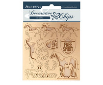 Stamperia Decorative Chips Romantic Horses Freedom (SCB98)