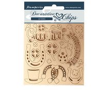 Stamperia Decorative Chips Romantic Horses Good Luck (SCB99)