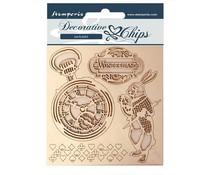 Stamperia Decorative Chips Alice in Wonderland (SCB50)