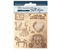 Stamperia Decorative Chips Sleeping Beauty Coatch (SCB60)