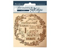 Stamperia Decorative Chips Sleeping Beauty Garland Love (SCB57)