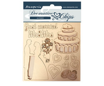 Stamperia Decorative Chips Sleeping Beauty Just Married (SCB62)