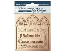 Stamperia Decorative Chips Sleeping Beauty Quotes (SCB56)