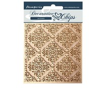 Stamperia Decorative Chips Sleeping Beauty Texture (SCB61)