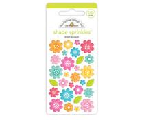 Doodlebug Design Bright Bouquet Shape Sprinkles (7249)