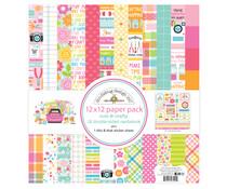 Doodlebug Design Cute & Crafty 12x12 Inch Paper Pack (7290)