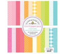 Doodlebug Design Cute & Crafty 12x12 Inch Petite Print Paper Pack (7291)