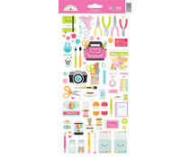 Doodlebug Design Cute & Crafty Icons Stickers (7275)