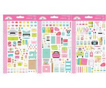 Doodlebug Design Cute & Crafty Mini Icons Sticker (7262)