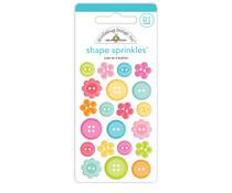 Doodlebug Design Cute as a Button Shape Sprinkles (7250)