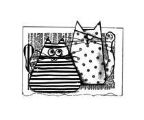 Crafty Individuals Burglar Cats Unmounted Rubber Stamps (CI-571)