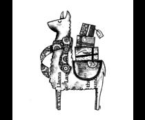 Crafty Individuals Luigi the Llama Unmounted Rubber Stamps (CI-567)