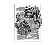 Crafty Individuals Trilby Cats Unmounted Rubber Stamps (CI-568)