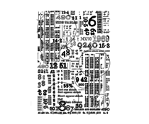 Crafty Individuals Counting Down Unmounted Rubber Stamps (CI-573)
