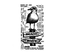 Crafty Individuals Counting Seagulls Unmounted Rubber Stamps (CI-576)