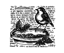 Crafty Individuals The Redbreast Unmounted Rubber Stamps (CI-575)
