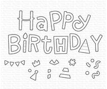 My Favorite Things Happy Birthday Party Die-namics (MFT-2053)
