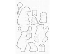 My Favorite Things Birthday Bears Die-namics (MFT-2032)