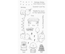 My Favorite Things Penguin Party Clear Stamps (SY-35)