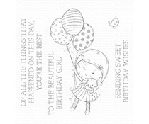 My Favorite Things Beautiful Birthday Girl Clear Stamps (RAM-018)