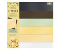 Crafter's Companion Bee-Youtiful Collection 12x12 Inch Luxury Pearlescent Card Pad (NG-BEY-LUX-PCP12)