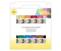 Docrafts Artiste Acrylic Pack 12x59ml Basic (DOA 763320)