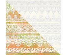 Finnabair Lace Border 12x12 Inch Resist Canvas (960650)
