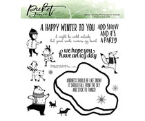 Picket Fence Studios A Happy Winter to You 6x6 Inch Clear Stamps (C-121)