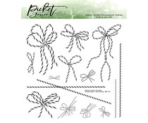 Picket Fence Studios Handmade Twine Bows 6x6 Inch Clear Stamps (BB-175)