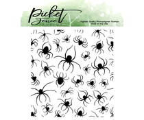 Picket Fence Studios Marching Spiders 4x4 Inch Clear Stamps (H-114)
