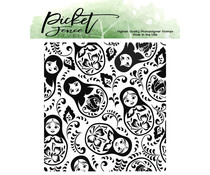 Picket Fence Studios Nesting Dolls 4x4 Inch Clear Stamps (BB-171)