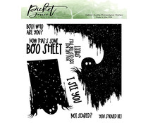 Picket Fence Studios Not scared? You should be! 6x6 Inch Clear Stamps (H-117)