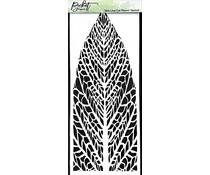 Picket Fence Studios Slim Line Reversed Leaf 4x10 Inch Stencil (SC-241)