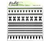 Picket Fence Studios Arctic Winter 6x6 Inch Stencil (SC-256)