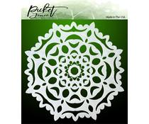 Picket Fence Studios Hand Cut Snowflake 6x6 Inch Stencil (SC-251)