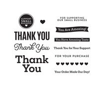 Spellbinders Support Small Business Clear Stamps (STP-062)