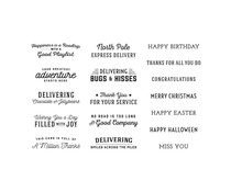 Spellbinders Sunday Drive All-Occasion Sentiments Clear Stamp (STP-059)
