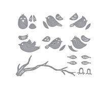 Spellbinders Sweet Birds on a Branch Etched Dies (S4-1107)