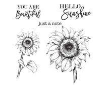 Spellbinders Hello Sunflower Clear Stamp (STP-017)