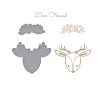 Spellbinders Deer Friend Glimmer Hot Foil Plate & Die (GLP-287)